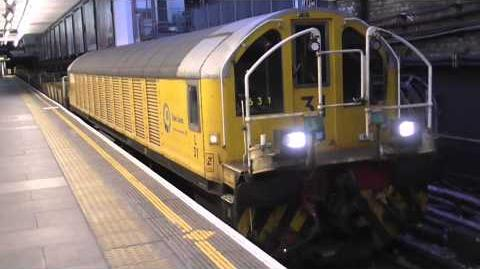 London Underground - Battery Locomotives Depart Earls Court