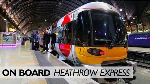 On Board ... Heathrow Express Cab Ride