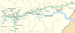 District Line & London map