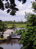 St John's Lock and Lechlade in background