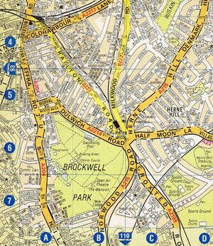 Brockwell Park map