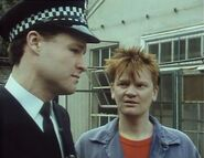 London Burning Series 1 episode 3 Policeman and ginger worker