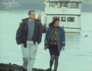 London's Burning S1 E2 Malcolm and Samina at the Thames shore