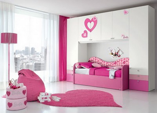 Image Luxury Bedroom For Teen Girl With Pink Color Design Jpg