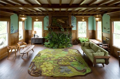 Natural Living Room With Forest Rug 469x308
