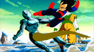 Vegeta helps out
