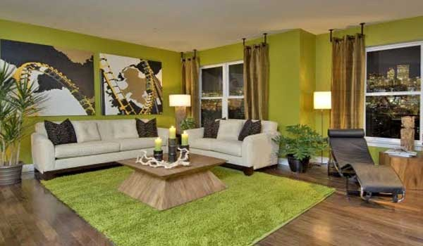Stylish Green Color Living Room At Modern Trends And Interiors Design Ideas From The