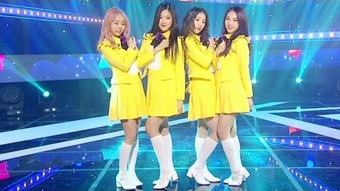 《CUTE》 LOOΠΔ 1 3 (이달의 소녀 1 3) - Love&Live (지금, 좋아해) @인기가요 Inkigayo 20170402