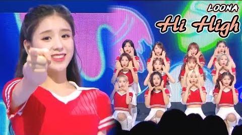 HOT LOONA - Hi High , 이달의 소녀 - Hi High Show Music core 20180908