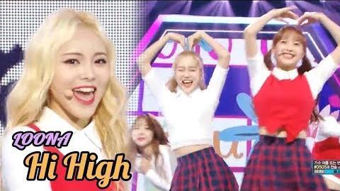 HOT LOONA - Hi High ,이달의 소녀 - Hi High Show Music core 20181013