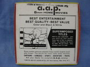 AAP Home Movies back cover