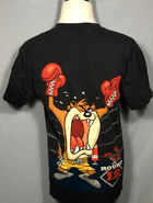Vintage Tasmanian Devil 1990's Boxer Looney Tunes t-shirt - cartoon - vintage tees - vintage t shirt (Large) (Back)