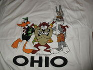 Looney Tunes shirt OHIO Bugs Bunny Vintage 90's Taz Daffy XL Mint NEW! ds
