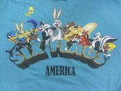 Six Flags America Looney Tunes Men's XL T Shirt Bugs Bunny Wile E Coyote Tweety