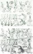 Bugs Bunny model sheet