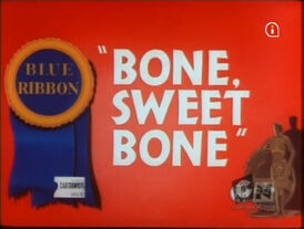 Lt bone sweet bone blue ribbon