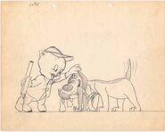 Porky-Pig-Animation-drawing-by-Bob-McKimson
