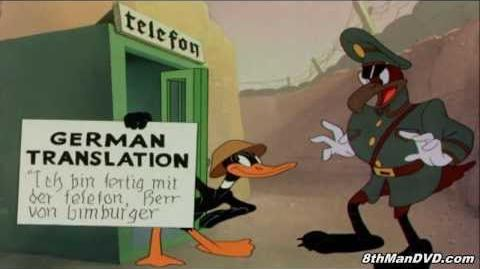 LOONEY TOONS Daffy The Commando (Daffy Duck) (1943) (Remastered) (HD 1080p)