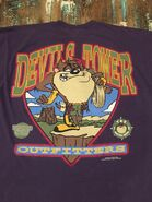 90's TAZ at DEVILS TOWER ROCK CLIMBER T Shirt 1995 Large