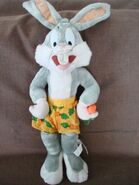1998 RARE Looney Tunes Bugs Bunny Plush Stuffed Warner Bros Rabbit with Carrot 28
