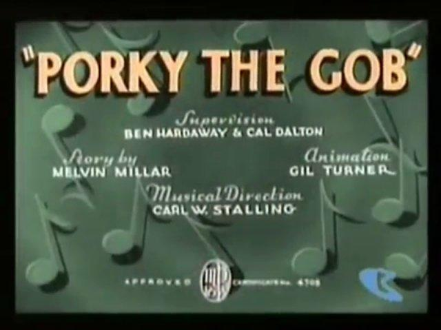 Porky The Gob (1938)