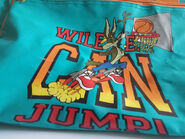 White Men Can't Jump Parody Warner Bros. Wile E. Coyote Space Jam Rare Vintage Gym Duffle Bag