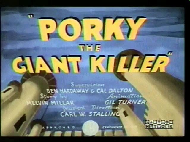 Porky The Gigant Killer (Computer Colorized)
