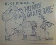 HurdyGurdyHareLobbyCardPreliminarySketch
