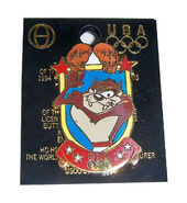 LOONEY TUNES TAZMANIAN DEVIL BOXING USA ATLANTA OLYMPICS SOUVENIR PIN 1996
