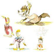 Daffy Duck-1946-Book Revue