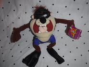 Looney Tunes Diving Beach Taz Tasmanian DevilPlush Soft