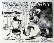 Picador-porky-us-lobbycard-porky-pig-1937-E5M7RD