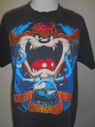 Vintage taz motor cycle t shirt Tasmanian Devil black clothing clothes