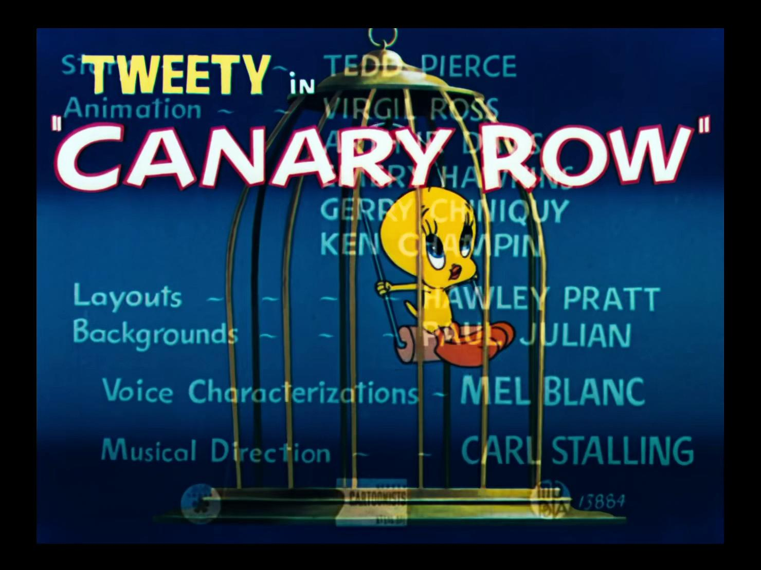 Looney Tunes 1950x24 Canary Row ENG,FRE Comm