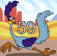 Roadrunner runs in 59 seconds