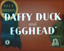 Daffy Duck & Egghead Blue Ribbon