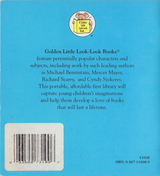 Bugs Bunny - The Little Surprise - A Golden Little Look Look Book - Back Cover