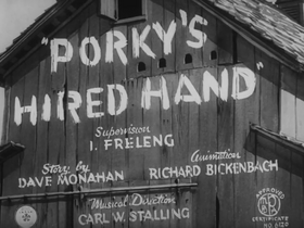 Porky's Hired Hand title