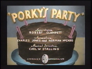 Porky's Party Computer-Colorized Titles