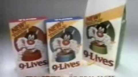 9 Lives Cat Food 80's