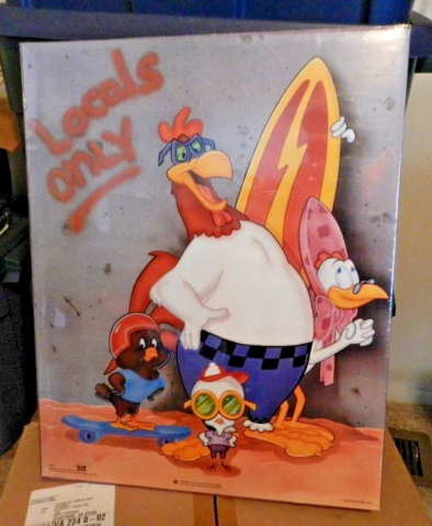 File:Warner Brothers 1988 Locals Only Surf Looney Tunes poster with Foghorn.png