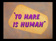 To Hare is Human HD