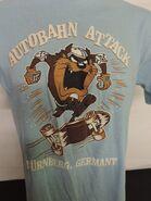 VINTAGE TAZ Autobahn GERMANY T-SHIRT Sz. Large 1988 Looney Tunes Skate Skater