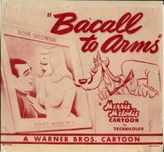Bacall to Arms Lobby Card 1