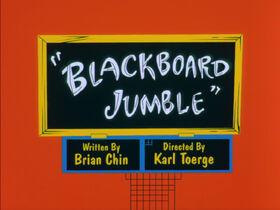 Lt blackboard jumble