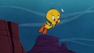 Tweety bird underwater by crt2mtsu1 ddm1w2e