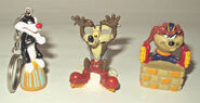6 X LOONEY TUNES MINI FIGURINE COLLECTION CAKE TOPPERS TAZ BUGS DAFFY SYLVESTER (x2)