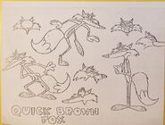 Quick Brown Fox Model Sheet