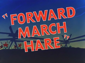 Forward March Hare Title Card