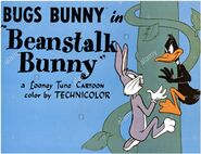 Beanstalk Bunny Lobby Card colorized